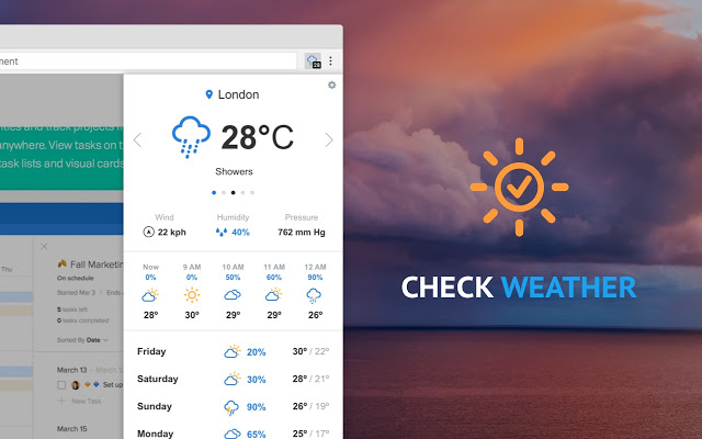 Check-Weather for Chrome