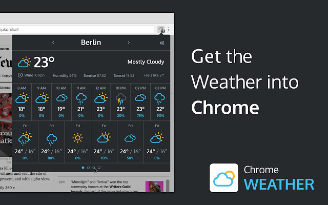 Weather for Chrome