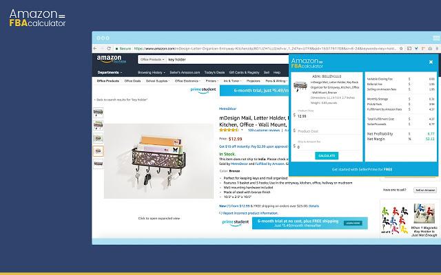 Amazon FBA calculator by S...