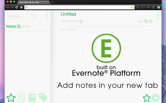 Note New Tab on Evernote®...