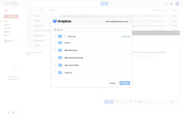 Dropbox for Gmail