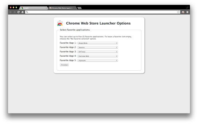 Chrome Web Store Launcher ...